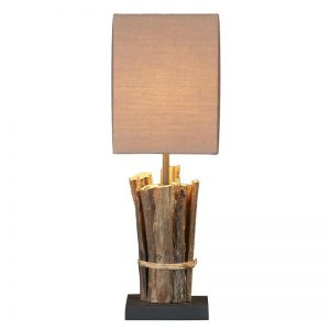 lamp continental home teak