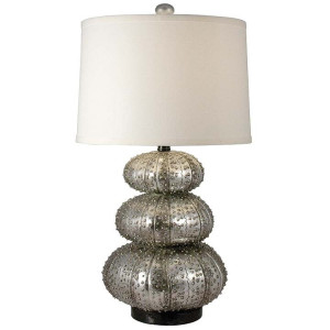 "alt = ""Silver sea urchin lamp by Regina Andrews."""