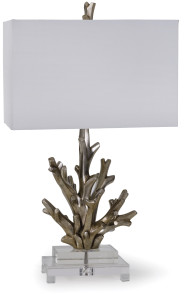 "alt = ""Silver coral lamp by Regina Andrews"""