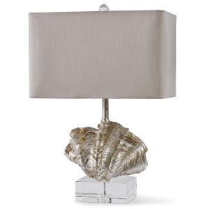 """alt = """"Silver seashell lamp by Regina Andrews."""""""