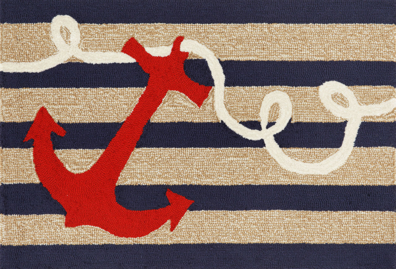 Rug Transocean Anchor Coastal Textiles The Wright Gallery Nautical Collection