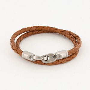 sailormade Brummel braided leather double wap
