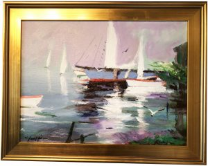 Artist Charles Gruppe At Dusk Acrylic Painting
