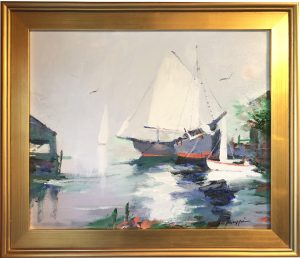Artist Charles Gruppe At Rest Acrylic Painting