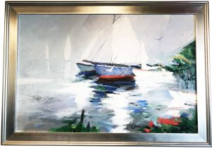 Artist Charles Gruppe, At Rest, Cape Porpoise Acrylic Painting
