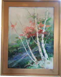 artist-charles-gruppe-birches-acrylic