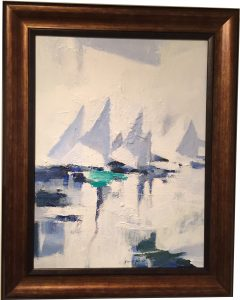 Artist Charles Gruppe Blue Sails Acrylic Painting