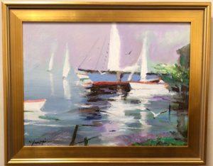 Artist Charles Gruppe Sails at Rest