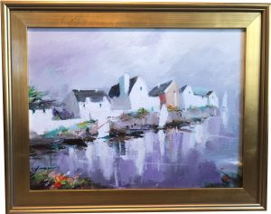 Artist Charles Gruppe Brittany Acrylic Painting