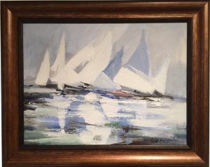 Artist Charles Gruppe Sails Acrylic Painting