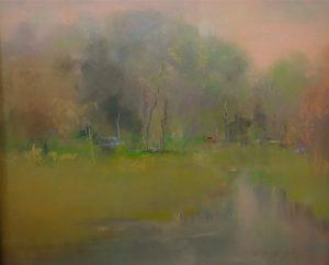 Artist Ann Murphy Summer's Open Door 21.25x22.25 Pastel