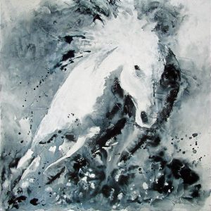 Artist Carol Santora Boundless Acrylic Painting