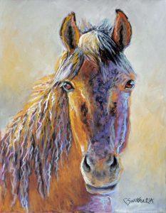 Artist Carol Santora Cinnamon Pastel Painting