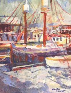 artist-dennis-poirier-boats-at-dock-unf-5x6