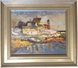 artist-dennis-poirier-maine-winter-morning-bailey-island
