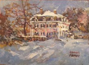 artist-dennis-poirier-snow-covered-mansard-unf-5x7