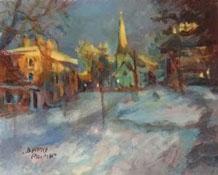 artist-dennis-poirier-winter-at-dawn-unf-6x8