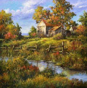 Artist-Gary-Shepard-White-Barn-Oil.
