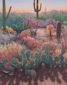 Artist Gretchen Huber Cacti Oil Painting