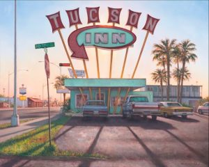 Artist Gretchen Huber Tuscon Inn Oil Painting