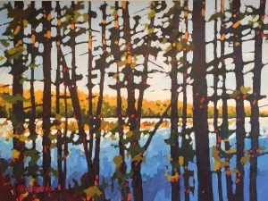 Artist Holly Lombardo Golden Hour Acrylic Painting