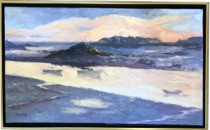 Artist Joan Sutter Evening Light Oil Painting