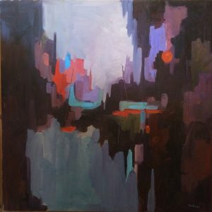 Artist Nadine Schoepfle Abstract 30x30 oil on canvas