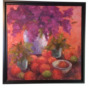 Artist Nadine Schoepfle Still Life I oil on canvas 12x12