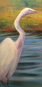 Artist Nancy Howell Egret