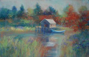 Artist Nancy StLawrence Dockside Pastel Painting