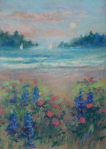 Artist Nancy StLawrence Morning Sail Pastel Painting