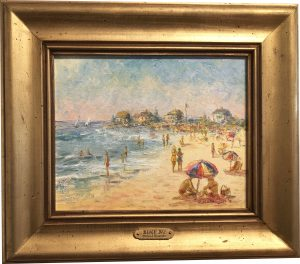 Artist Richard Hasenfus Beach Day Oil Painting