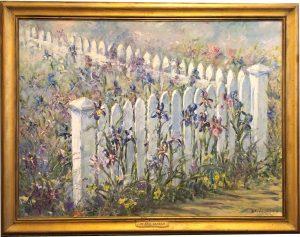 """Iris Garden (framed 35x45"""")"""