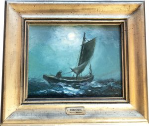 Artist Richard Hasenfus Night Sail Oil Painting