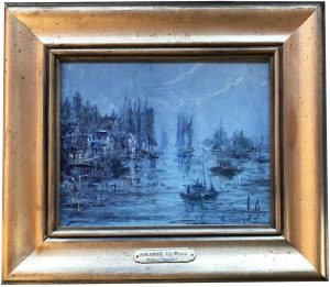 Artist Richard Hasenfus Nocturne Cape Porpoise Oil Painting