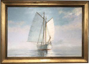 Artist Richard Hasenfus Passage in Fog oil painting