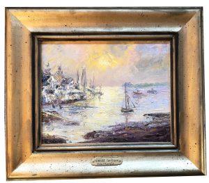 Artist Richard Hasenfus Sunrise Cape Porpoise Oil Painting.JPG