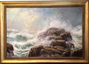Artist Richrad Hasenfus Sea Force-Sea Scape- Oil on Canvas