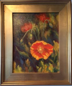 Artist Susan Roux Papauer floral Oil on Canvas