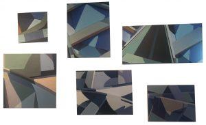 Artist Susan Wilder Abstract Boats Acrylic