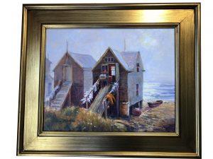 Artist William Maloney Fishing Shacks