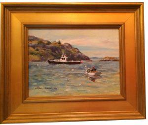 Artist William Maloney Going Fishing