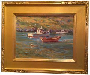 Artist William Maloney Monhegan Boats