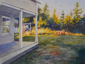 """Porch at the Sea Gull"""