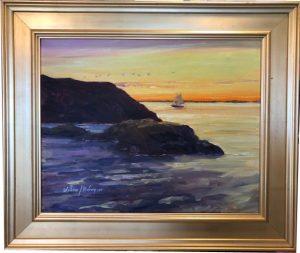 Sunset Sail from Afar