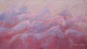 Artist Carol Santora Runners Pastel