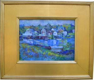 "alt = ""Artist Dennis Poirier"" Cape Porpoise Harbor Acrylic"