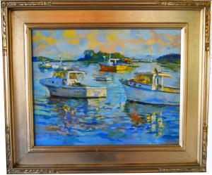 """alt = """"Artist Dennis Poirier - Cape Porpoise Harbor"""""""