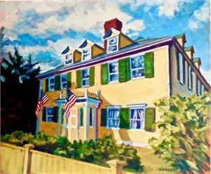 Artist Paul Bonneau Hough McCoullough House Summer St Painting