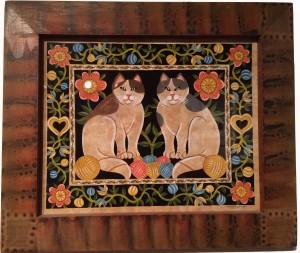 Artist Claudia Hopf-Cat Pair